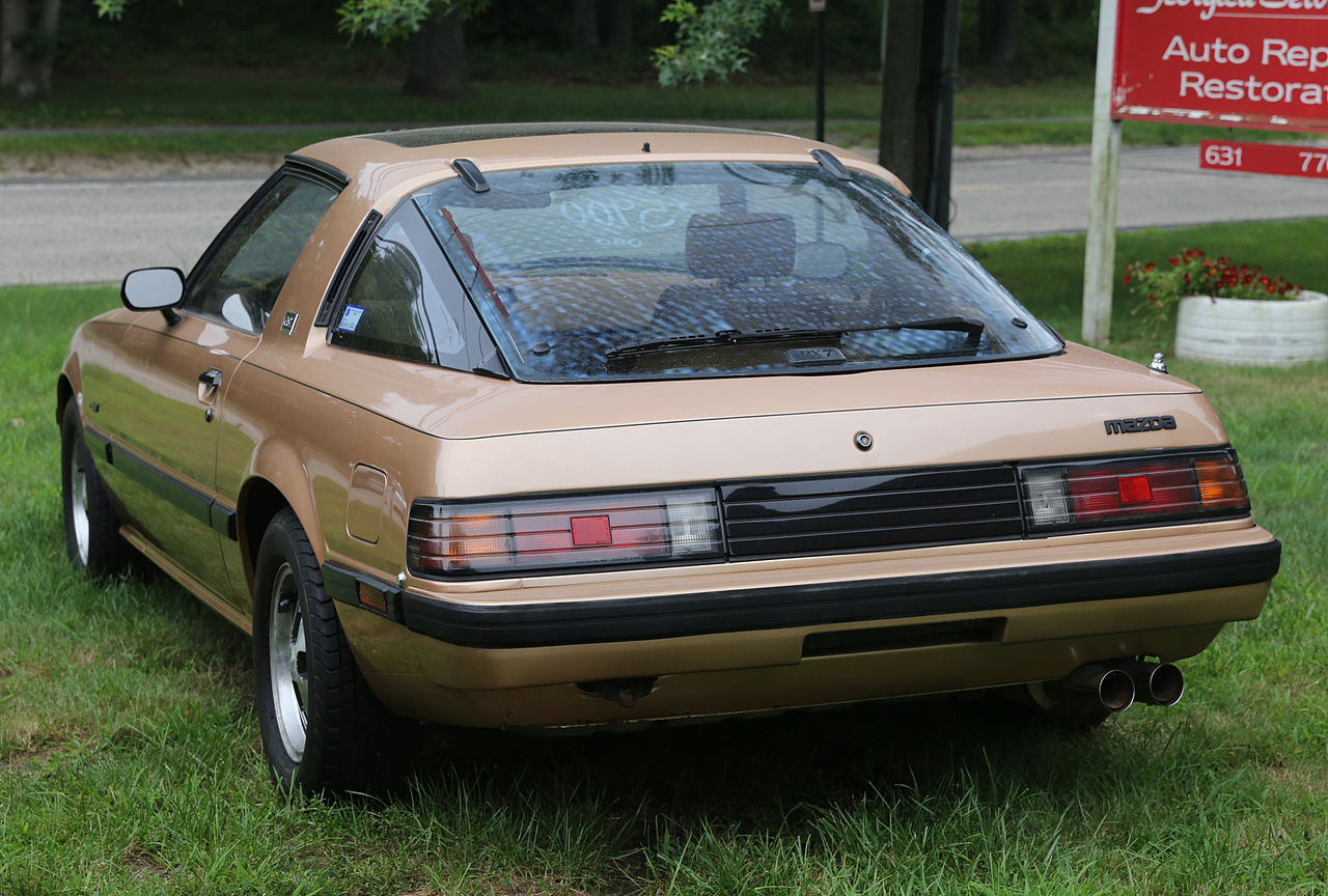 File 1983 Mazda Rx 7 Gsl Rear Jpg Wikimedia Commons