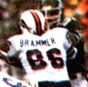 Mark Brammer - Brammer (86) playing for the Bills in 1981