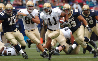 Notre Dame playing against Navy 2004 Notre Dame-Navy Game.jpg