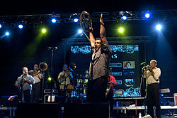 20090627 Fanfare Ciocarlia group live in Athens at Restistance Festival by KOE 1.jpg