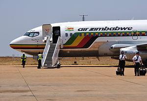 Chileka International Airport - Air Zimbabwe Boeing 737-200, Blantyre 2010