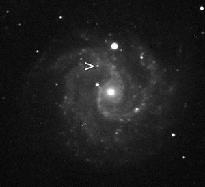 NGC 3184 - NGC 3184 showing supernova impostor 2010dn on June 02, 2010