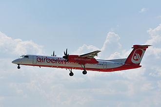 Luftfahrtgesellschaft Walter - An LGW Bombardier Dash 8 Q400 operated for Air Berlin in 2011