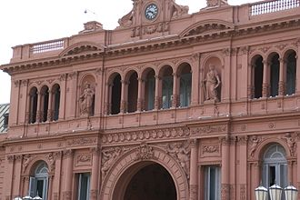 "Evita (1996 film) - ""Don't Cry for Me Argentina"" was filmed at the Casa Rosada with 4,000 extras."