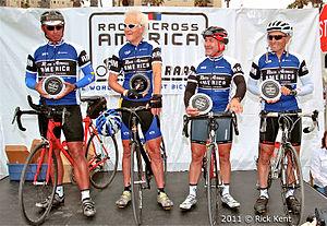 Race Across America - Lon Haldeman, John Howard, Michael Shermer, and founder John Marino