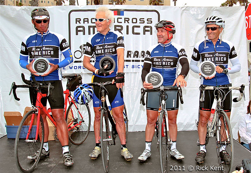 File:2011 Race Across America 30th Anniversary Celebrates Original Four Competitors.jpg