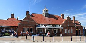 Felixstowe railway station - The original building has been converted into a shopping centre