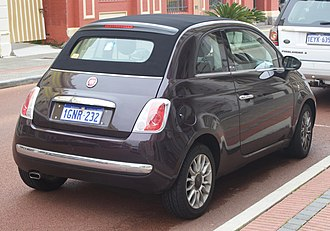 Fiat 500 (2007) - 500C pre-facelift
