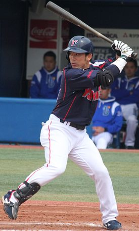 20140413 Yuuhei Takai, infielder of the Tokyo Yakult Swallows, at Yokohama Stadium.JPG
