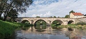 Bardo, Poland - Gothic bridge over the Nysa Kłodzka river