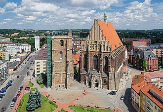 Nysa, Poland - Basilica of St. Jacob and St. Agnes in Nysa