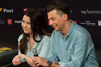 Estonia in the Eurovision Song Contest 2015 - Elina Born and Stig Rästa during a press meet and greet