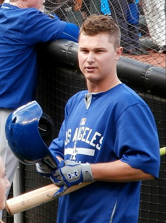 Joc Pederson - Pederson during batting practice at AT&T Park on May 20, 2015