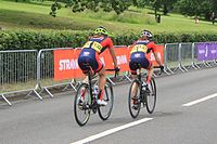 2015 Women's Tour stage 5 - 132 Sara Headley and 133 Heather Fischer.JPG