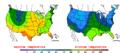 2016-04-16 Color Max-min Temperature Map NOAA.png