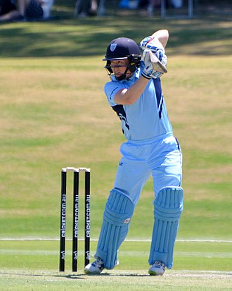 Alex Blackwell - Blackwell batting for the NSW Breakers, 2017