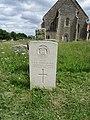 2018-06-13 CWGC gravestone, T.H.F. Johnson, Dorsetshire Regiment, Parish church of All Saints, Mundesley.JPG
