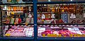 2018-06-26 Sausages, salami and meat on sale at Grand Market Hall, Budapest, Hungary.jpg