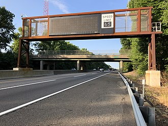 Deptford Township, New Jersey - The southbound New Jersey Turnpike in Deptford Township
