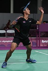 2018-10-12 Badminton Mixed International Team Final match 9 at 2018 Summer Youth Olympics by Sandro Halank–017.jpg
