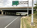 2019-08-24 19 02 29 View east along U.S. Route 40 (Pulaski Highway) at exit for Interstate 695 NORTH (Towson) in Rosedale, Baltimore County, Maryland.jpg