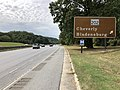 2019-09-09 11 09 41 View south along Maryland State Route 295 (Baltimore-Washington Parkway) at the exit for Maryland State Route 202 (Cheverly, Bladensburg) in Landover, Prince George's County, Maryland.jpg