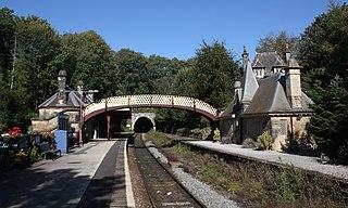 Cromford railway station Railway station in Derbyshire, England