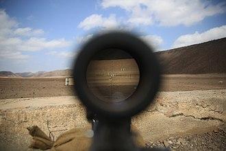 Advanced Combat Optical Gunsight - Image: 24th MEU's Headquarters and Service Company conducts live fire exercise 150310 M WA276 018