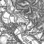 3. Militärische Aufnahme (-1887) Sanok, Konisgbrunndl.JPG