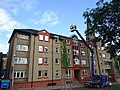 34 Wright's Houses, Edinburgh Student Housing Cooperative, front view with cherry picker.jpg