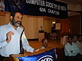 3TV Mohandas Pai of Infosys at Goa ECAP in 2006. ECAP is the Exhibition of Computers and Allied Products, held in Goa at the time.jpg
