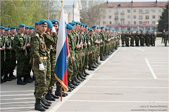 Special Forces of the Main Directorate of the General Staff of the Russian Armed Forces - 3rd Spetsnaz Brigade on parade, 9 May 2011.
