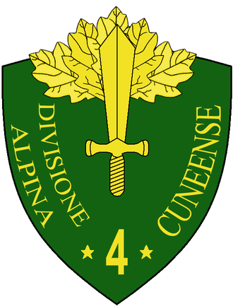 4th Alpine Division Cuneense - Coat of Arms of the 4th Alpine Division Cuneense