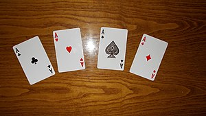 Ace - Four aces from a Standard 52-card deck