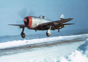 Nancy – Ochey Air Base - 50th Fighter Group P-47 Thunderbolt landing at Toul/Ochey Airfield (A-96) in December 1944.
