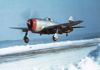 Nancy – Ochey Air Base - 50th Fighter Group P-47 Thunderbolt landing at Toul/Ochey Airfield (A-96) in December 1944.
