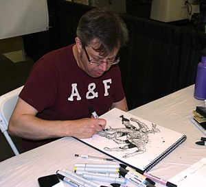 Ultron - Carlos Pacheco sketching a six-armed version of Ultron