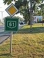 61-es út és Üdvözöljük Dombóváron tábla, 2018 Dombóvár.jpg
