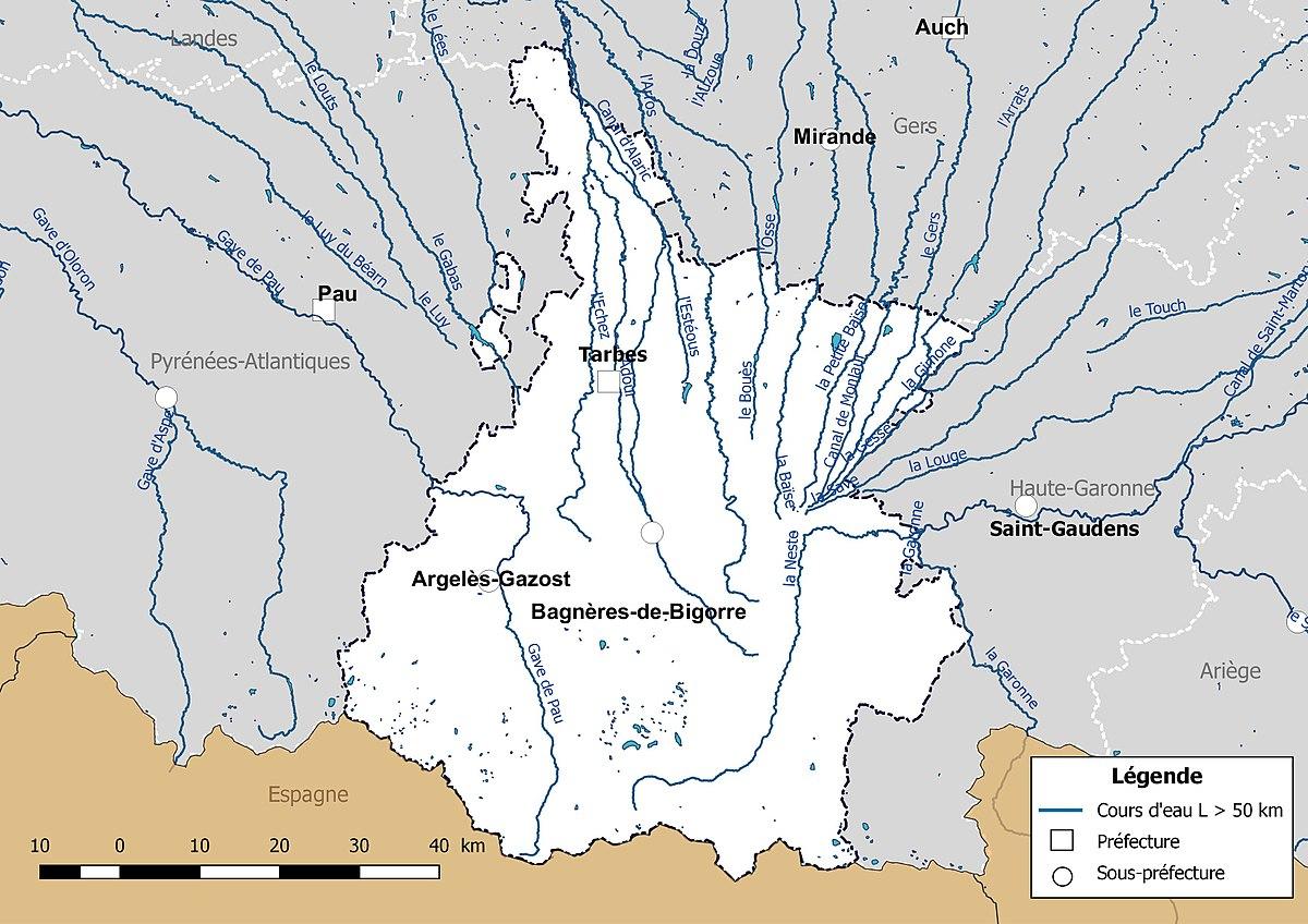 Liste des cours d'eau des Hautes-Pyrénées — Wikipédia