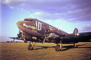 RAF Aldermaston - Douglas C-47 of the 74th Troop Carrier Squadron.