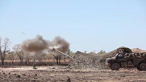 8th/12th Regiment, Royal Australian Artillery - An 8th/12th Regiment M777A2 lightweight 155 mm howitzer firing during an exercise in 2015