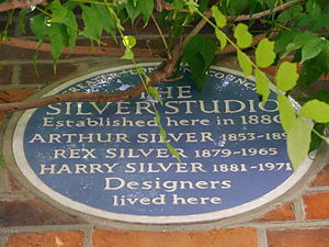 Silver Studio - Blue plaque, 84 Brook Green