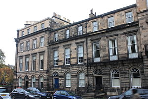 Andrew Rutherfurd, Lord Rutherfurd - Rutherfurd's home at 9 St Colme Street, Edinburgh (centre: blue door)