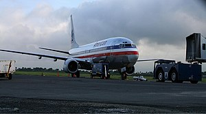 Transport in the Dominican Republic - Boeing 737-800 at Cibao International Airport in Santiago, DR