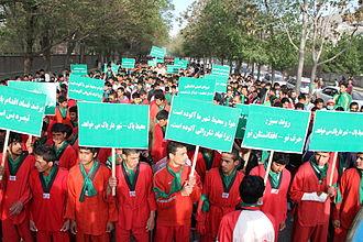 Amrullah Saleh - Afghan Green Trend rally in Kabul in May 2013