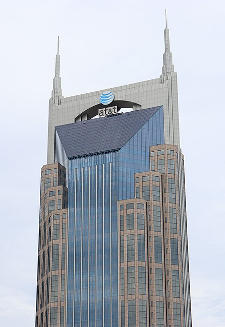 AT&T Building, the tallest building in Tennessee AT&T Building Nashville, TN.jpg