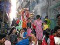 A Durga Puja procession by Hindu minority of Bangladesh 2009.jpg