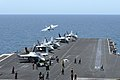 A Super Hornet launches from USS Dwight D. Eisenhower. (8714103895).jpg