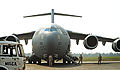 A U.S. Air Force C-17 Globemaster III aircraft sits parked to drop off Rwandan soldiers at Bangui M'Poko International Airport in the Central African Republic Jan. 19, 2014 140119-F-RN211-658.jpg