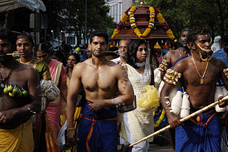 Hinduism in Southeast Asia - Hindu devotees during Thaipusam festival in Singapore.